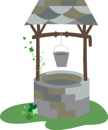 granted: A wishing well is a term from European folklore to describe wells where it was thought that any spoken wish would be granted