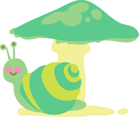 Where is Snail there is Mushroom. Always be friends like these two.