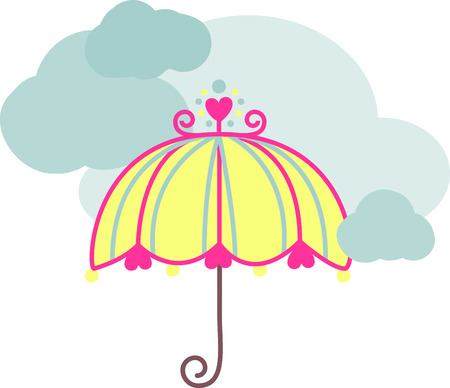 Let a smile be your Umbrella and you will end up with a face full of Rain. Enjoy the Rainy day with style with this design by Embroidery patterns.