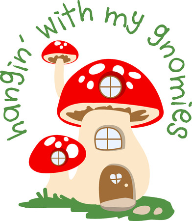 fungi: Mushroom house is beyond our imagination. It looks great. Enjoy your vacation with this design by Embroidery patterns.