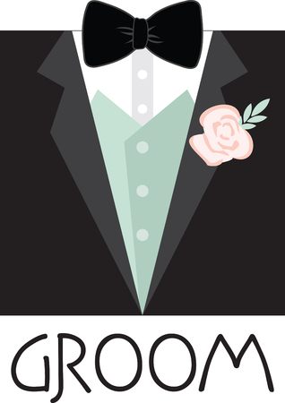 bridegrooms: Celebrate the precious day of your wedding with this Grooms designed by Embroidery patterns Illustration
