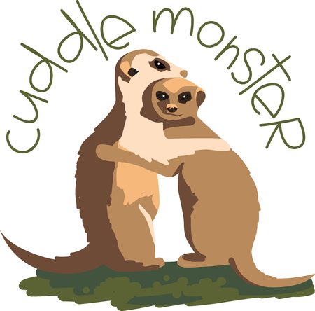 meer: So cute couple Made for each other Cuddle up this cute Meerkat couple. Illustration