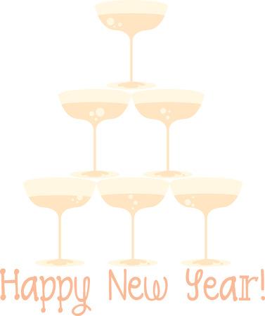 sip: Disfrute de su favorito de champ�n en estilo con vasos de champ�n en Nueva fiesta de fiesta de a�o