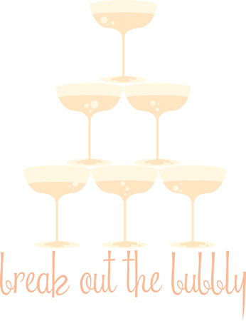 bash: Sip your favorite bubbly in style with champagne glasses at New year party bash Illustration
