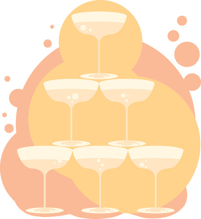 Sip your favorite bubbly in style with champagne glasses at New year party bash Ilustrace