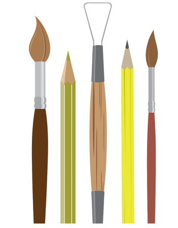 writing instrument: A best way to express your emotions and feelings is to paint a picture by using this Artist tools.