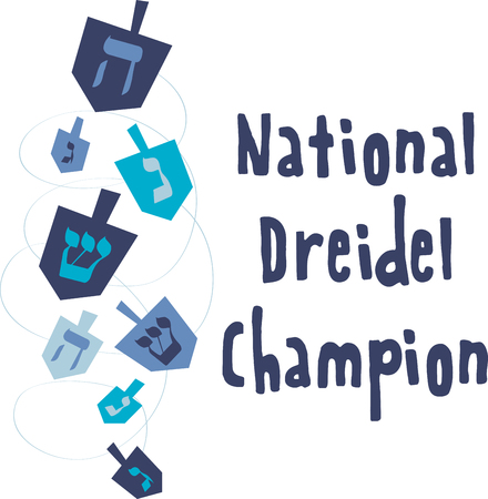 Enjoy this fun Jewish tradition this Hanukkah. Play this Dreidel with your family designed by Embroidery patterns Çizim