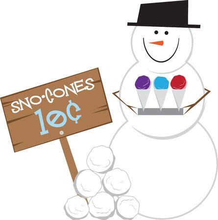 楽しんで: 自宅に独自のさわやかな Snocones を作る楽しさを持ってください。  イラスト・ベクター素材