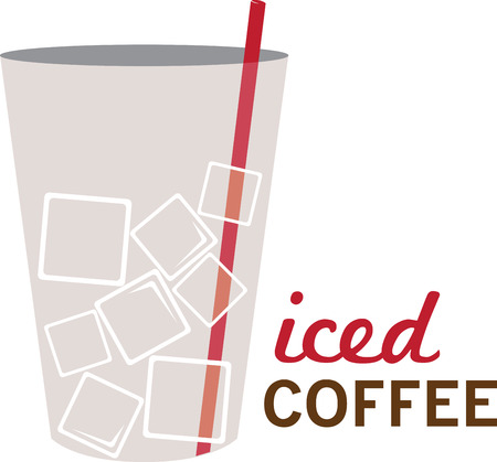 A perfect drink to kick start your day. Enjoy the deliciousness of Ice Coffee with this design by Embroidery patterns