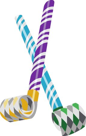 party horn blower: Add some pop to your party These custom party blowers are an extra special accent at any affair to have much fun. Illustration
