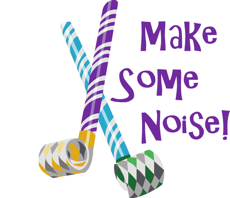 Add some pop to your party These custom party blowers are an extra special accent at any affair to have much fun. 向量圖像