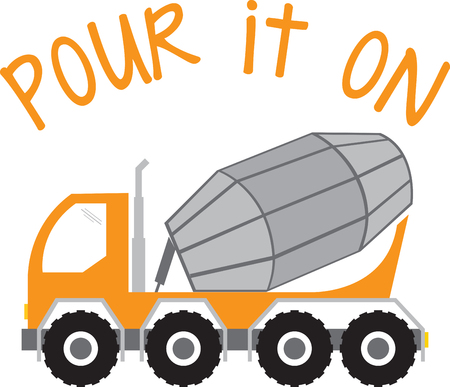 cement truck: Complete your construction worker costume with this Cement Truck design by Embroidery patterns.