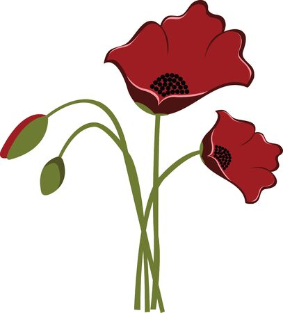 floret: And left the flushed print in a poppy there.