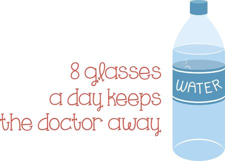 with liquids: water bottles are perfect for keeping liquids hot or cold as you like it Illustration