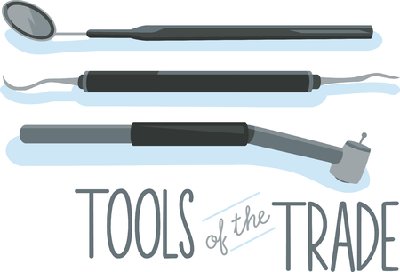 scraper: All the tools a Doctor needs to take care of our tooth Illustration