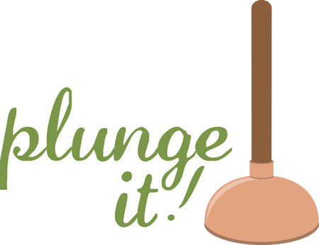 A plunger is a common device that is used to release stoppages in plumbing.pick those design by embroidery patterns.