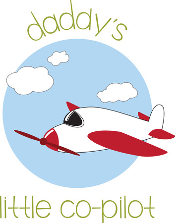 fly high with this airplane designs by embroidery patterns. Illusztráció