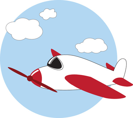 fly high with this airplane designs by embroidery patterns. Ilustrace