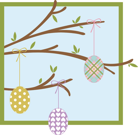 glorious: may all the enjoyments of the glorious season be yours pick those colorful Easter Egg designs by embroidery patterns Illustration