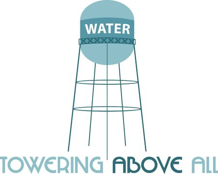 A water tower or elevated water tower is a large elevated water storage container constructed to hold a water supply at a height sufficient to pressurize a water distribution system.