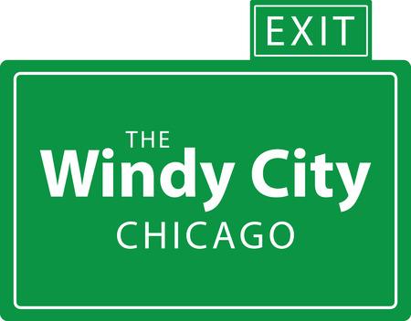 windy city: Ciudad de los Vientos de la amabilidad de un peque�o pueblo de Texas caf� con la atm�sfera y la energ�a diversi�n nivel de un barrio taberna Chicago Vectores