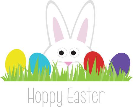 cottontail: Tan lindo y colorido perfecto para las decoraciones de Pascua.