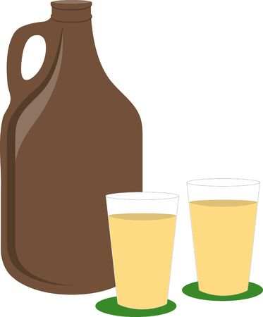 ale: get the perfect ale cups for your party time. Illustration