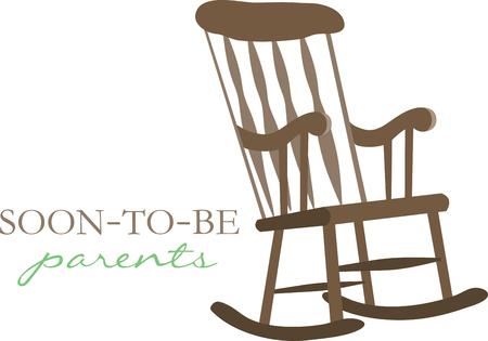 Macht diese zeitlose Möbelstück ein Teil von all Ihr Zubehör. Exclusive Rocking Chair Designs nur von Stickmustern Standard-Bild - 41569160
