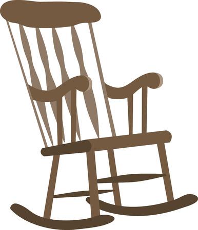 Rend cette pièce intemporelle de meubles, une partie de tous vos accessoires. Président exclusive Rocking Designs qu'à partir de motifs de broderie Vecteurs