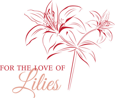 Lily Outline designs are perfect for you to get your body tattooed. Stock Vector - 41568893