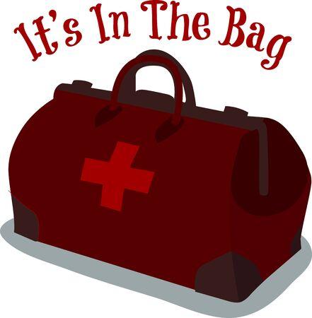 Eine komplette Gerätetasche ist, was ein Arzt Bedürfnisse