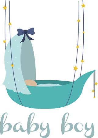 So cute Cuddle il vostro piccolo fascio di gioia con questo disegno da modelli di ricamo. Archivio Fotografico - 41568810