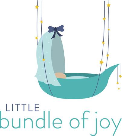 So cute Cuddle il vostro piccolo fascio di gioia con questo disegno da modelli di ricamo. Archivio Fotografico - 41568812