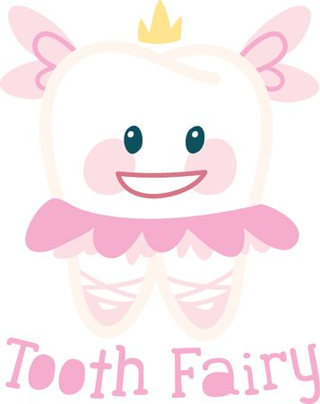 first teeth: The prize of loosing your first teeth bring you a tooth fairy Illustration