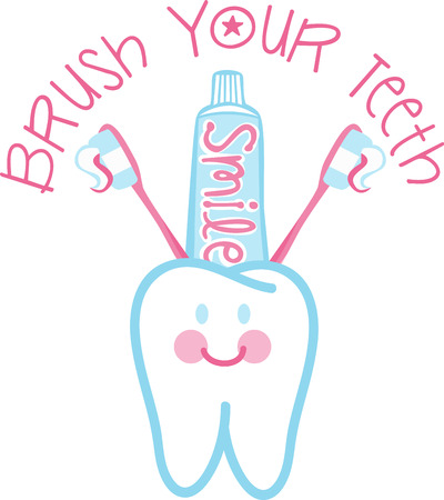take care: You have to take care of your tooth to keep smiling Illustration
