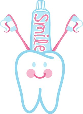 You have to take care of your tooth to keep smiling Ilustração