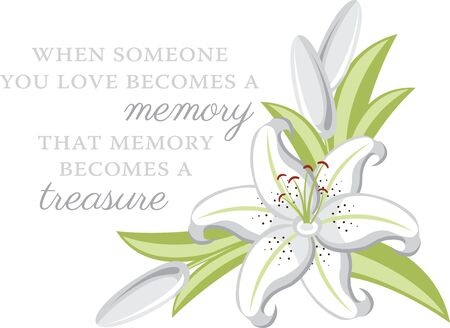 someone: Lily Flowers are elegant and classic choice for your wedding decorations. Illustration