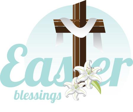 그는 상승했다. 그 믿음을 가지고 ... 그리고 당신은 축복과 행복한 부활절이 그가 항상있을 것입니다. 일러스트