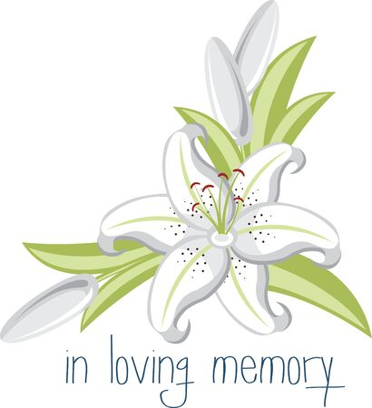 Lily Flowers are elegant and classic choice for your wedding decorations. Illustration