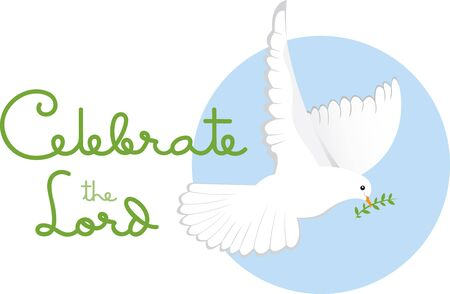 Celebrate peace this holiday season with this design by Embroidery patterns.