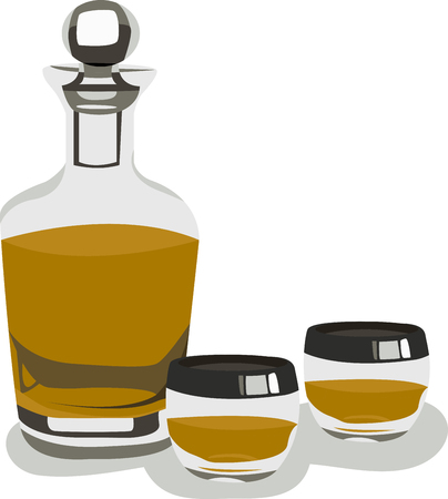 The liquor decanter set is a great way to present serve and store your favorite liquors.
