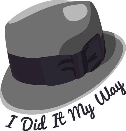 fedora: Mans Hat  Illustration