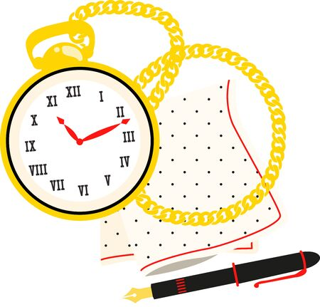 timepiece: pocket watch  Illustration