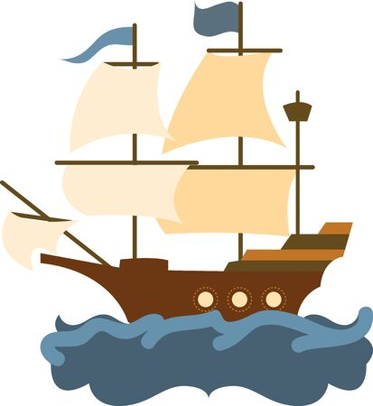 water chute: Ship Illustration