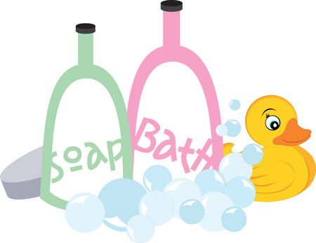 bath time: Bath time Illustration