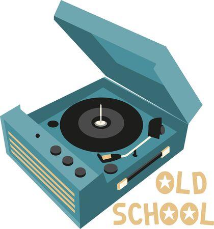 레코드 플레이어는 음악을 듣는 전통적인 소스입니다.