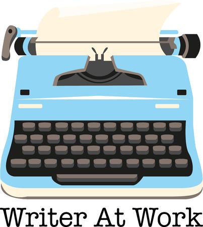 type writer: Macchina da scrivere � uno strumento molto importante, che ha gettato le basi di epoca moderna. Aggiungi questo design retr� di una camicia.