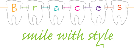 Dental braces  are devices used in orthodontics that align and straighten teeth and help to position them Illustration