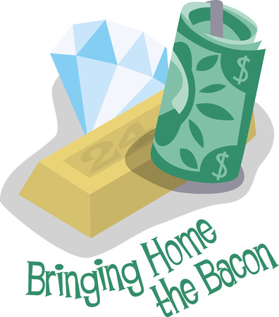 bringing home the bacon: Exchange your old Jewellery with best price of Cash. Illustration
