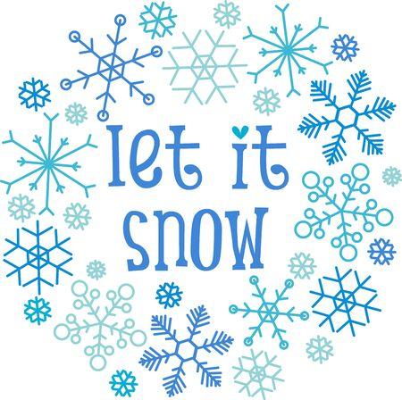 let it snow: Snowflakes